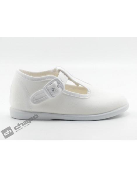 Zapatos Blanco Batilas 12601