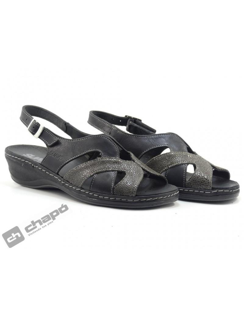 Sandalia Negro Suave 3000