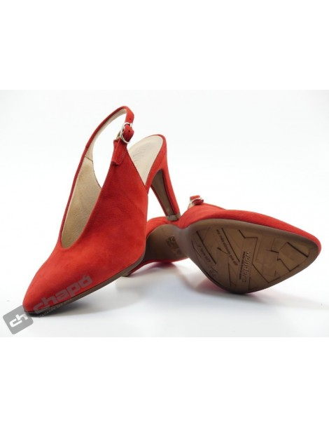 Mules Rojo Zapatos Wonders M-2060