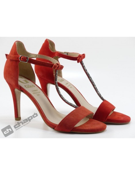 Sandalia Rojo Giko 71591