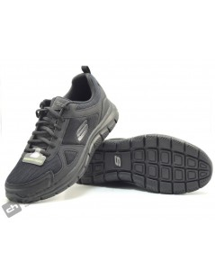Zapatos Negro Skechers 52631
