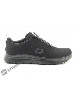 Zapatos Negro Skechers 77125-trabajo