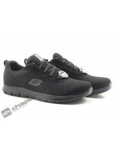 Sneakers Negro Skechers 77210ec-trabajo