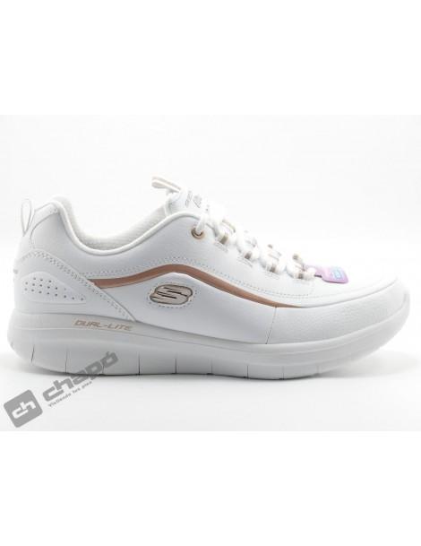 Sneakers Blanco/oro Skechers 12933