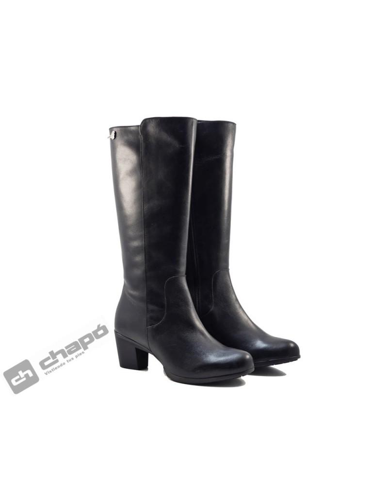 Botas Negro Zapatos Wonders G-4731-gore-tex