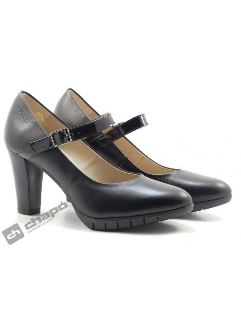 Zapatos Negro Zapatos Wonders M-1971