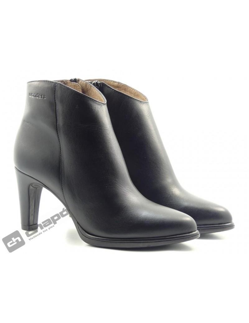 Botines Negro Zapatos Wonders M-2623