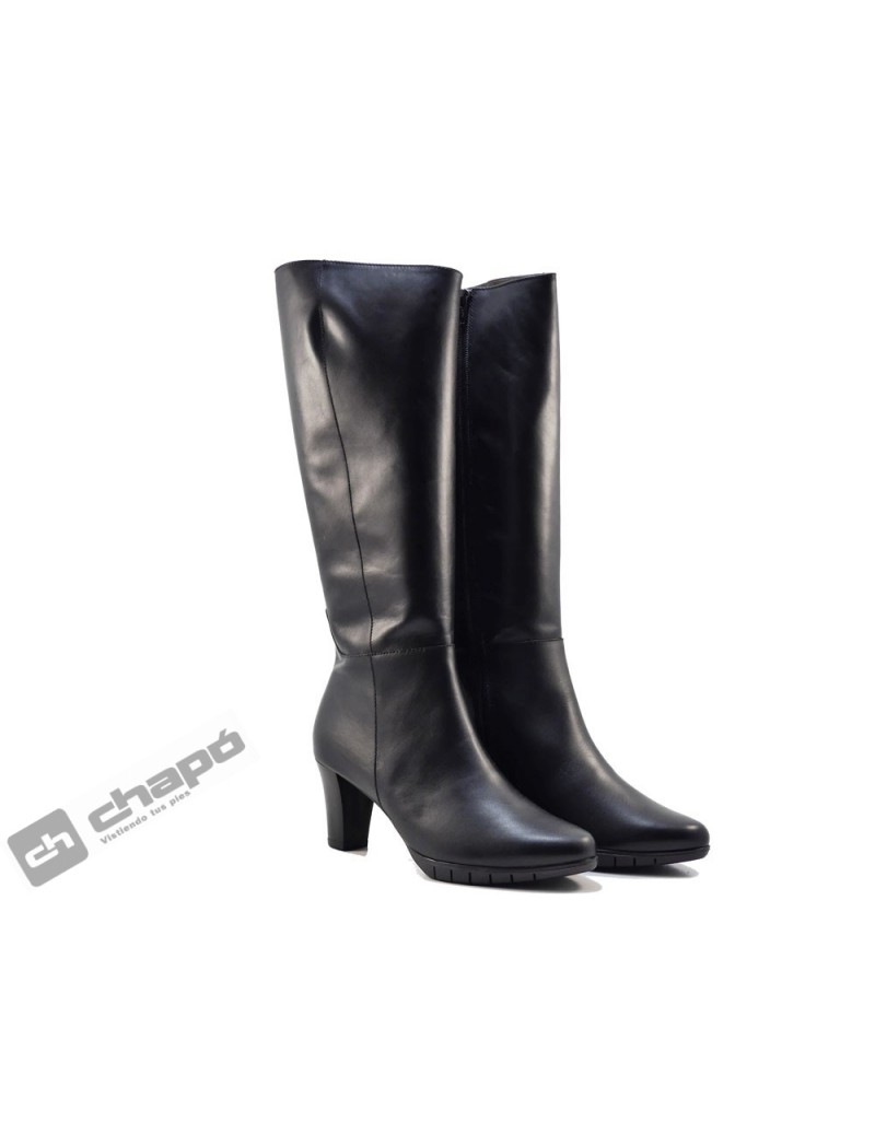 Botas Negro Zapatos Wonders I-6017