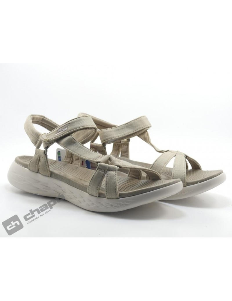 Chancla / Taupe Skechers 15316