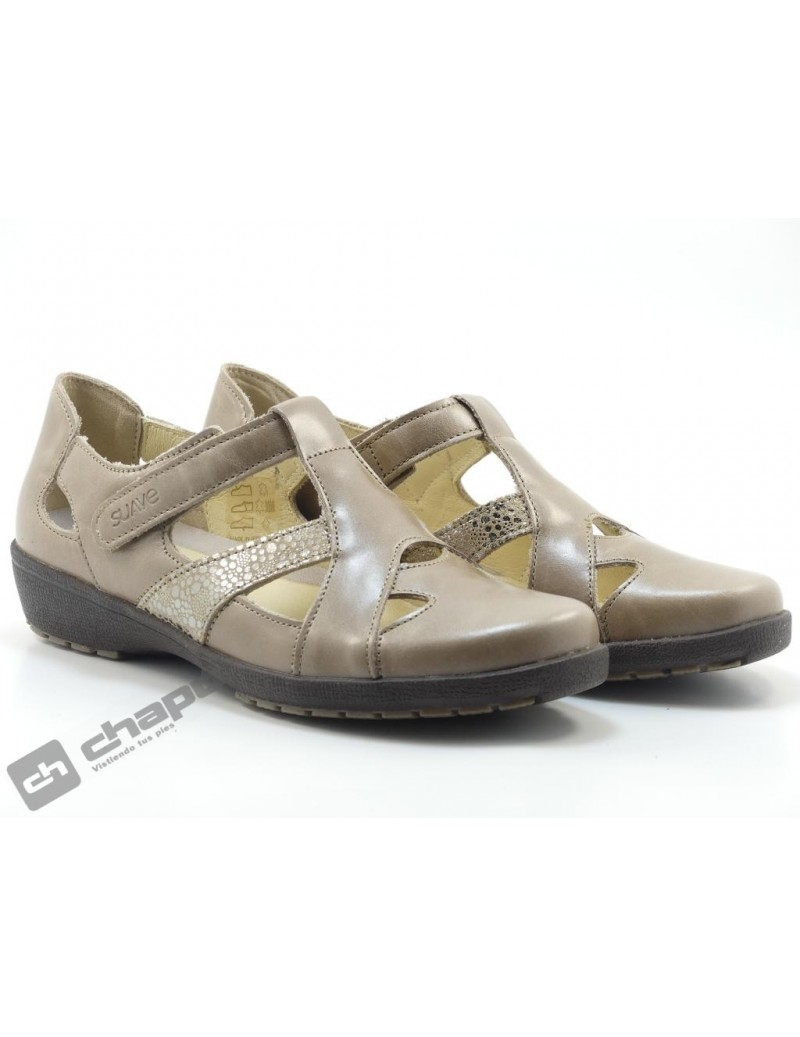 Zapatos Taupe Suave 3466