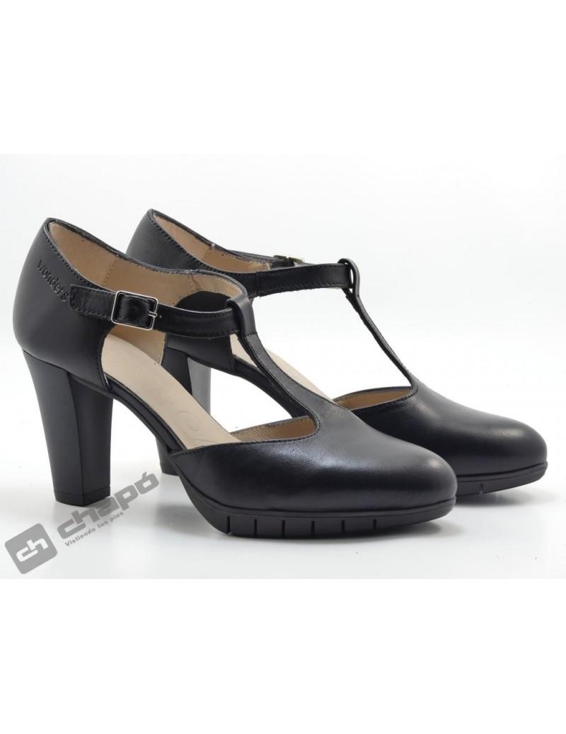 Zapatos Negro Zapatos Wonders M-1976