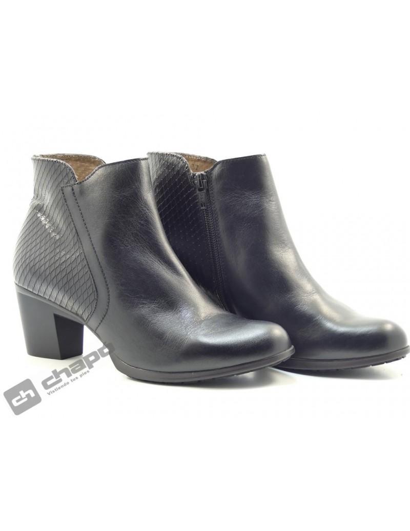 Botines Negro Zapatos Wonders G-4713