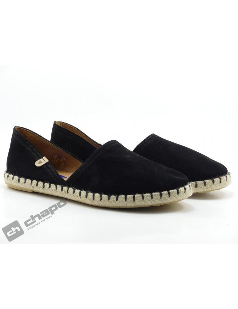Zapatos Negro Verbenas Carmen