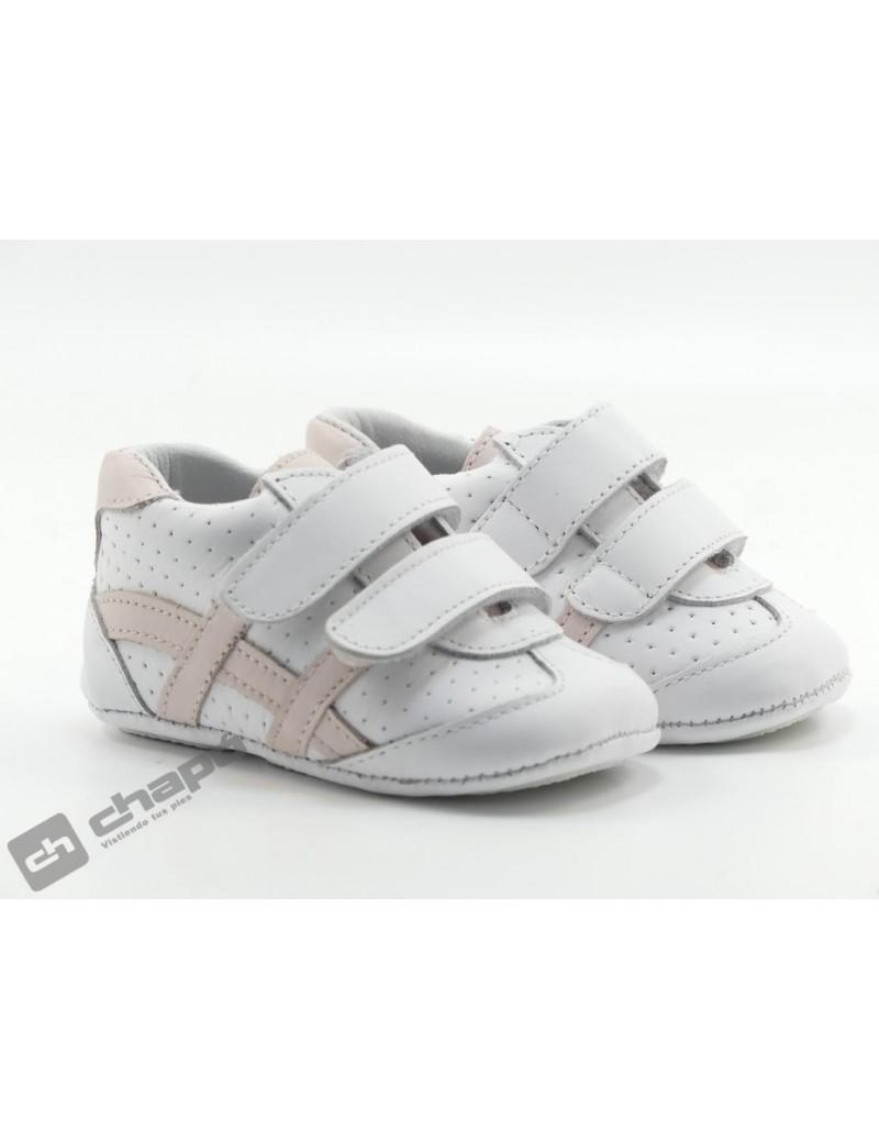 Zapatillas NiÑo-a Blanco/rosa Chuches Ch-403