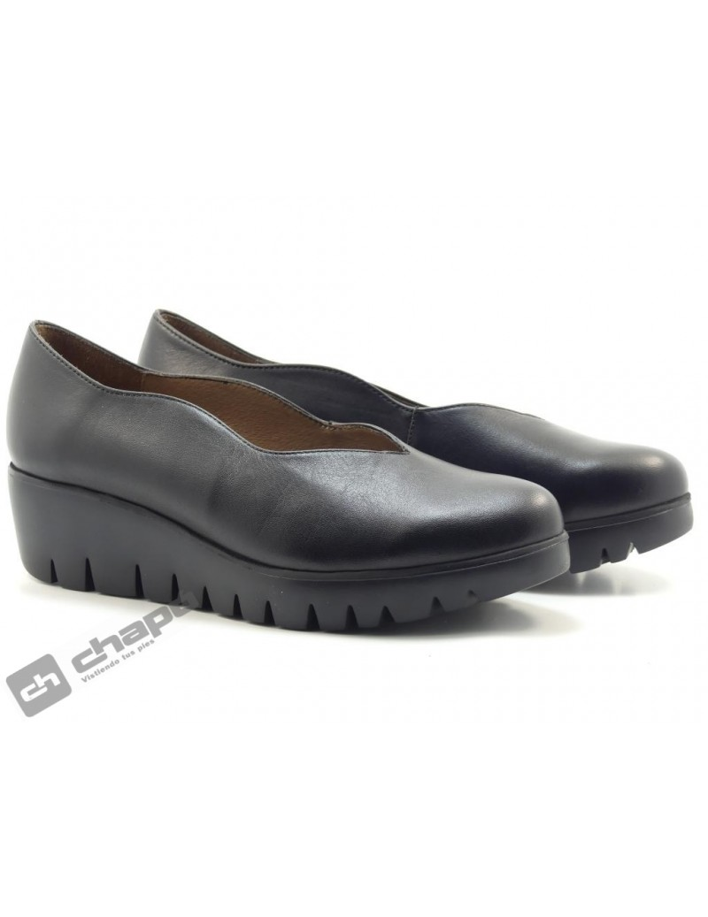 Mocasin Negro Zapatos Wonders C-33170