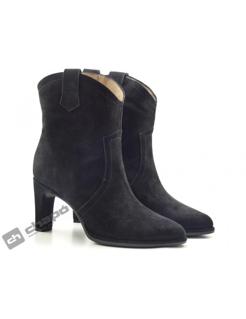 Botas Negro Zapatos Wonders M-4308
