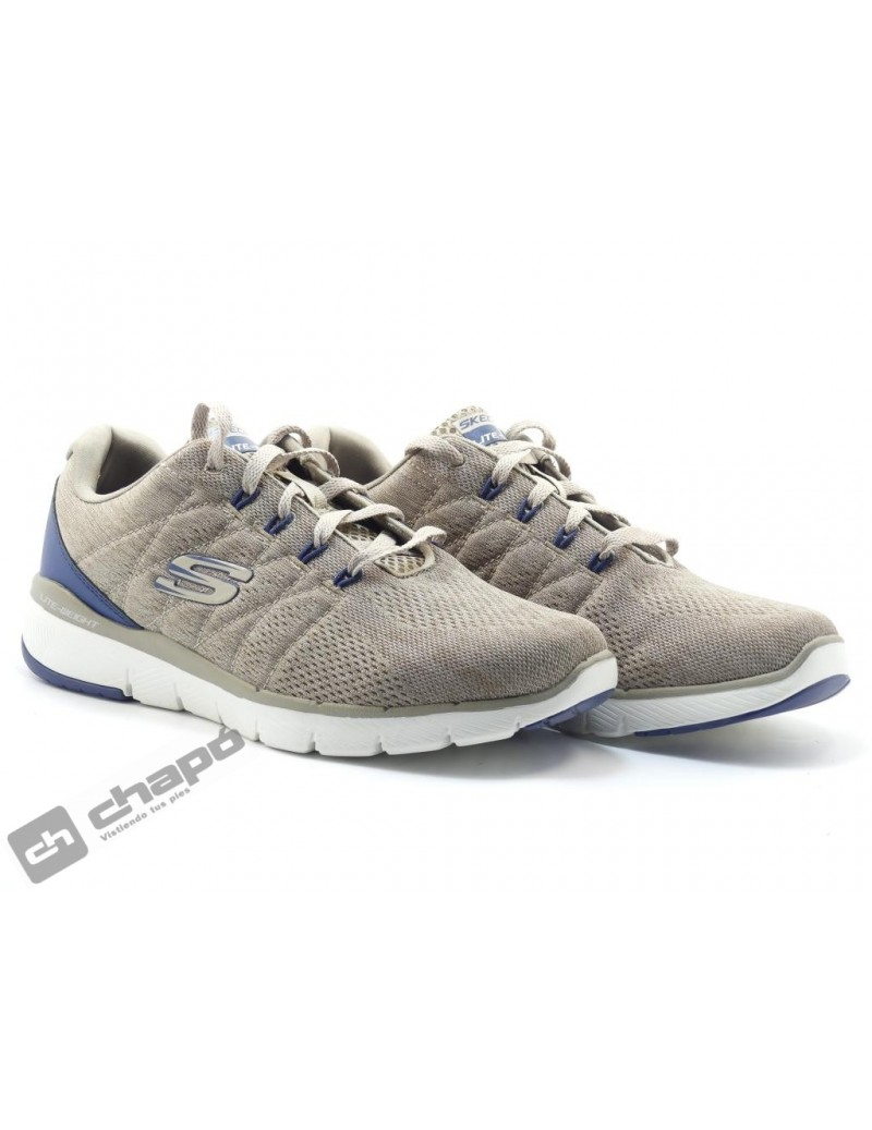 Zapatos Taupe Skechers 52957