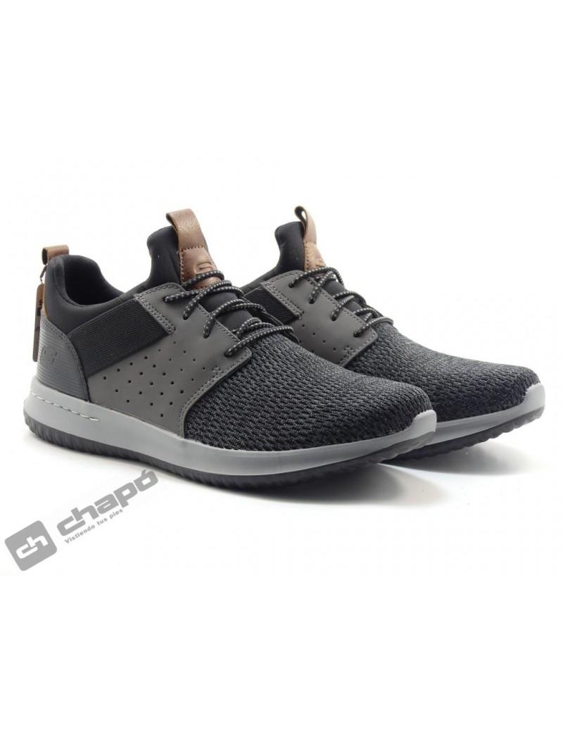 Zapatos Negro Skechers 65474