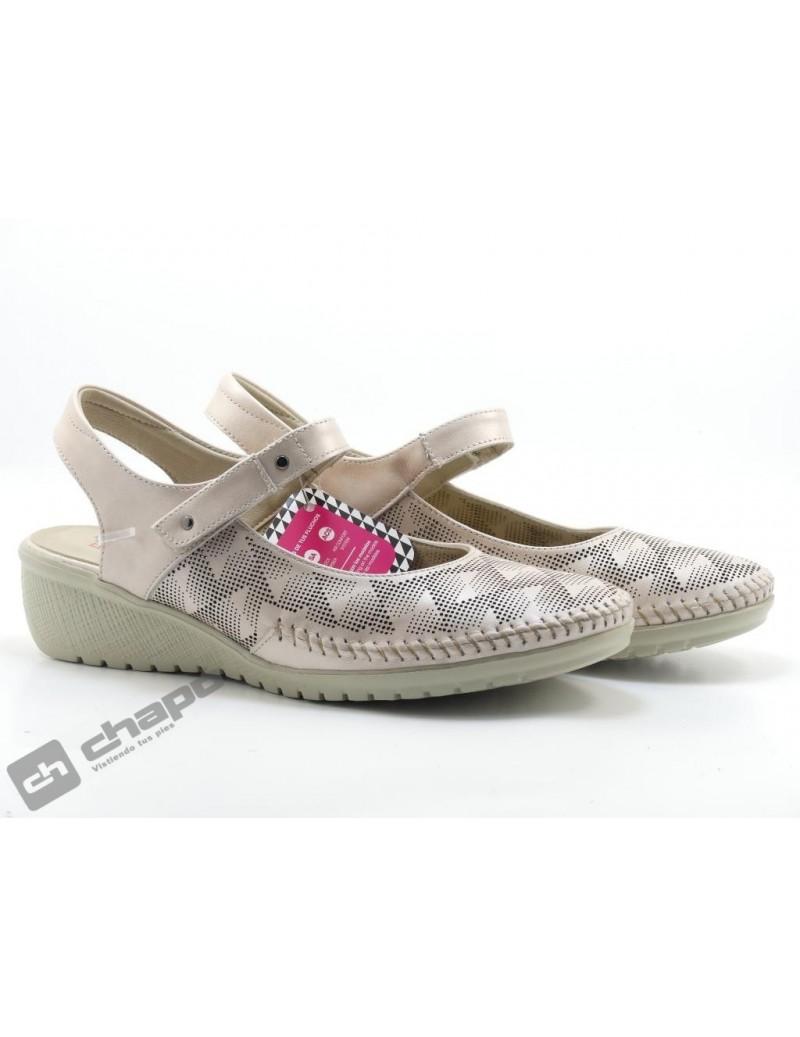 Zapatos Nude/negro Fluchos F0760 Efes