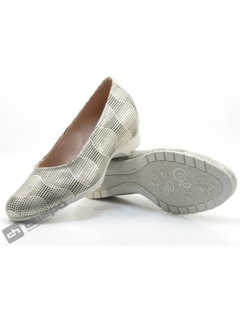 Zapatos Oro Pitillos 3002