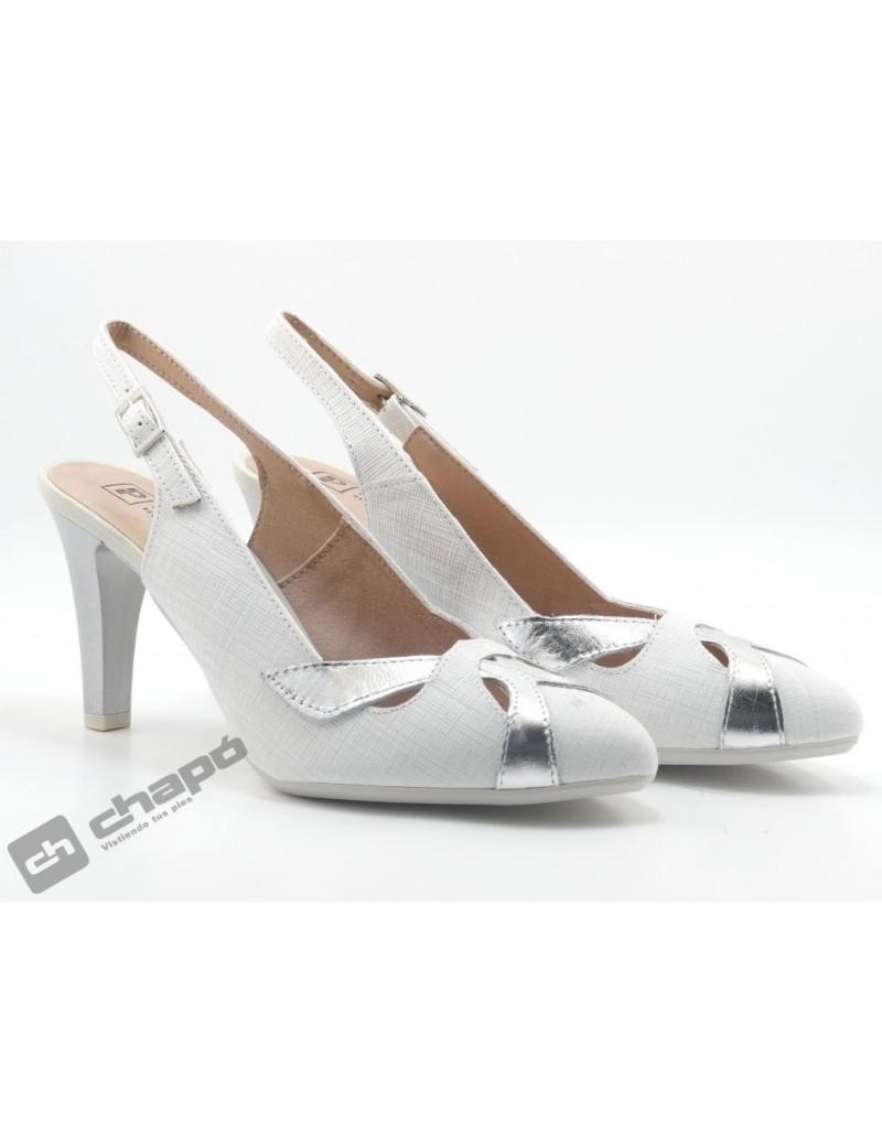 Zapatos Blanco Pitillos 6064