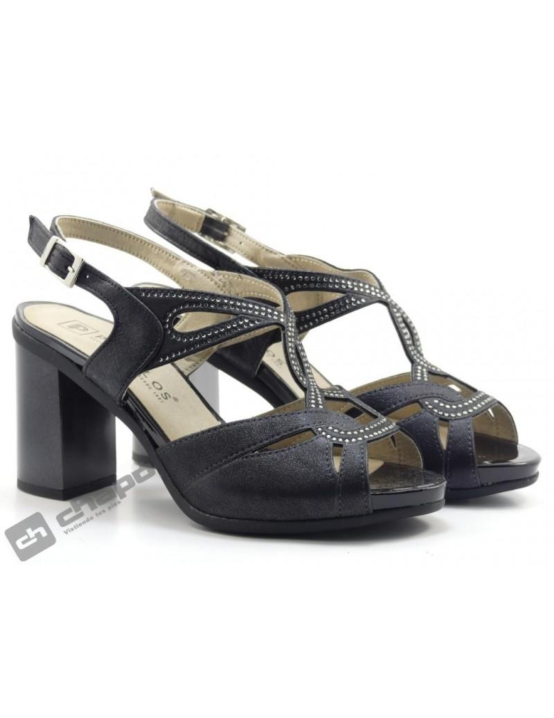 Sandalia Negro Pitillos 6160