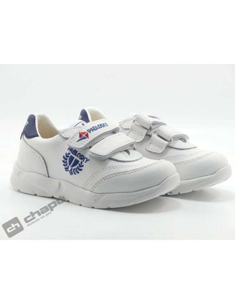 Zapatillas NiÑo Blanco/azul Pablosky 277902