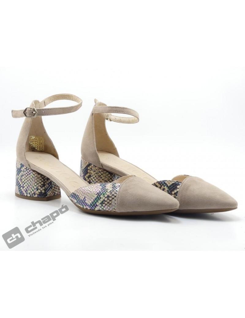 Zapatos Taupe Wonders I-8002