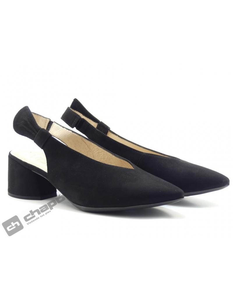 Mules Negro Zapatos Wonders I-8005