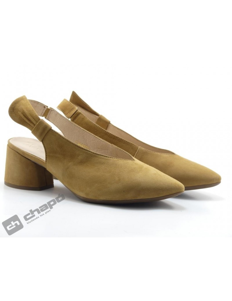 Mules Taupe Zapatos Wonders I-8005