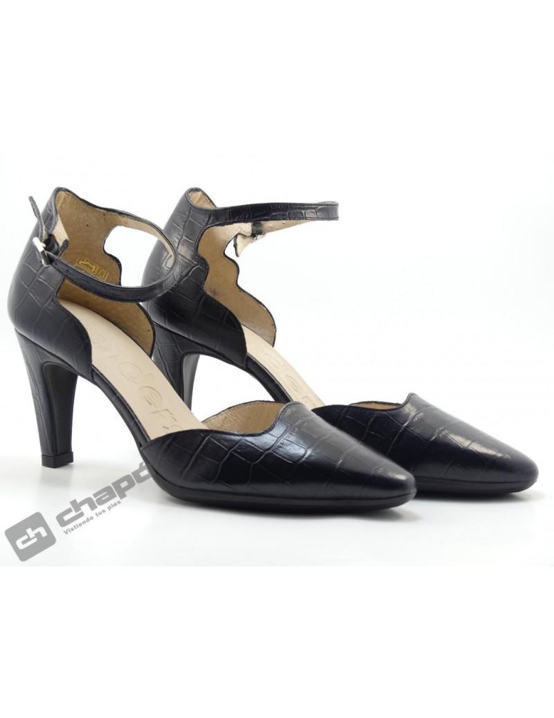 Mules Negro Zapatos Wonders M-4225 Coco