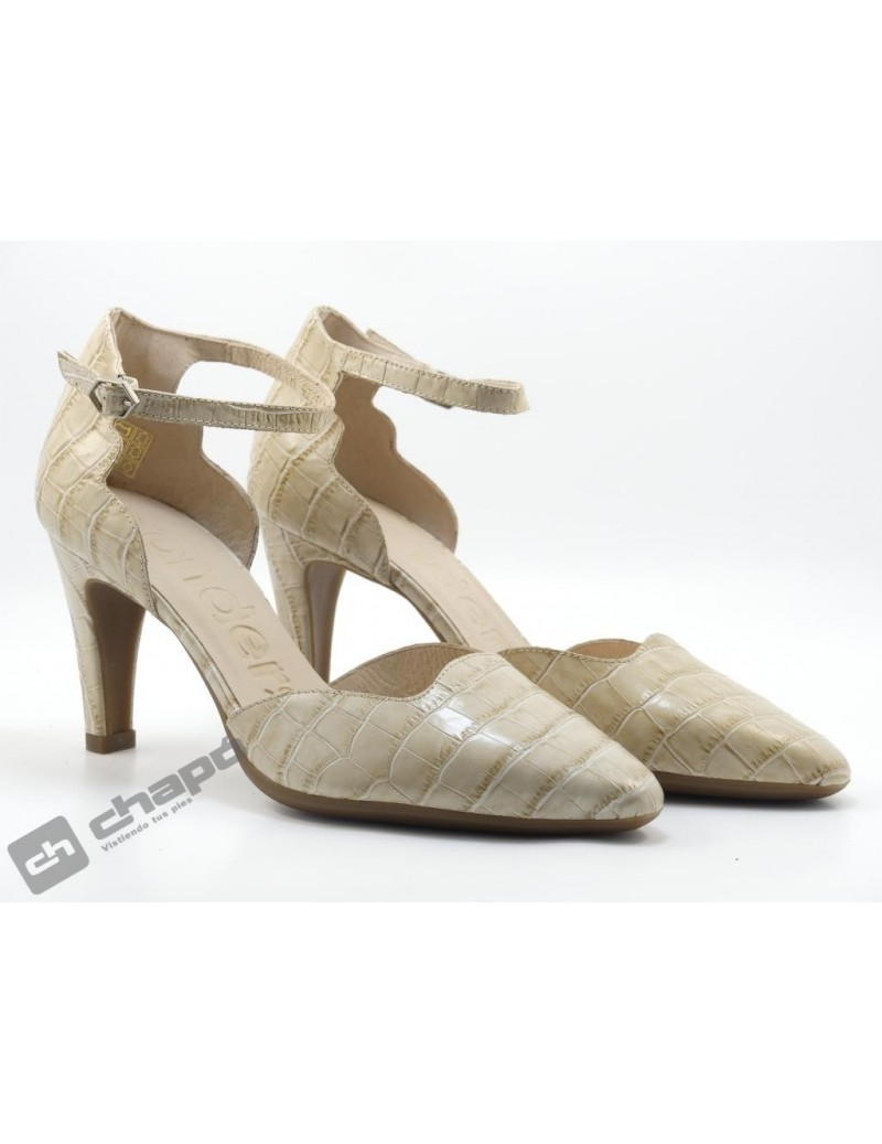 Mules Taupe Zapatos Wonders M-4225 Coco