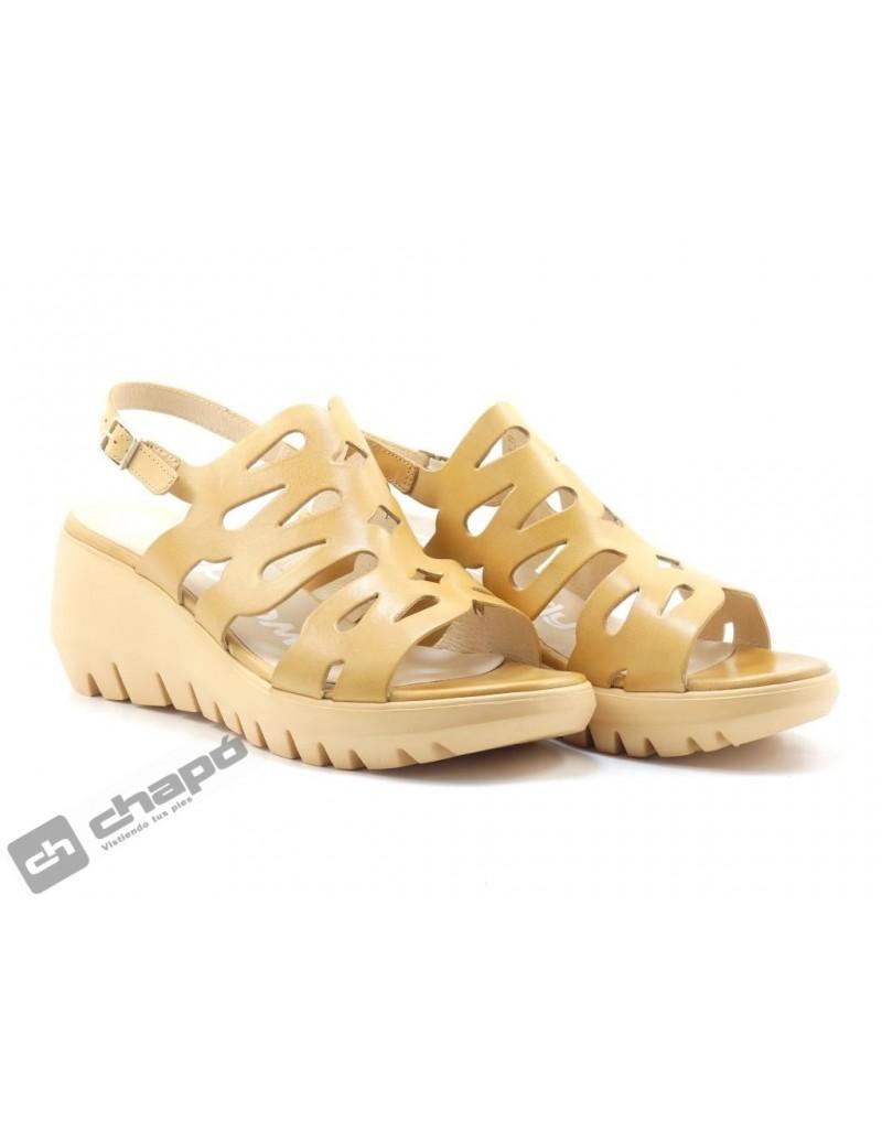Sandalia Taupe Zapatos Wonders D-9003