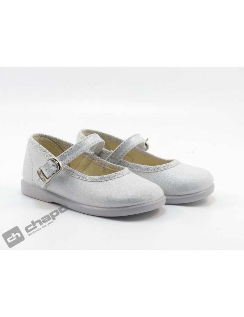 Zapatos Plata Batilas 107