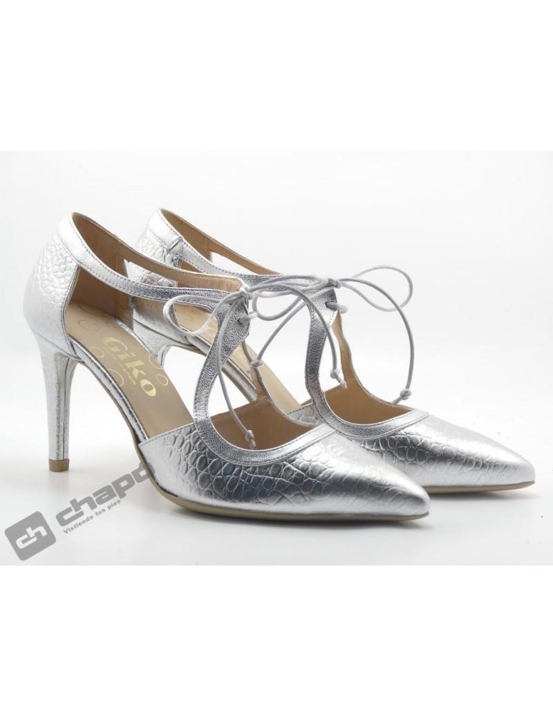 Zapatos Plata Giko 34578