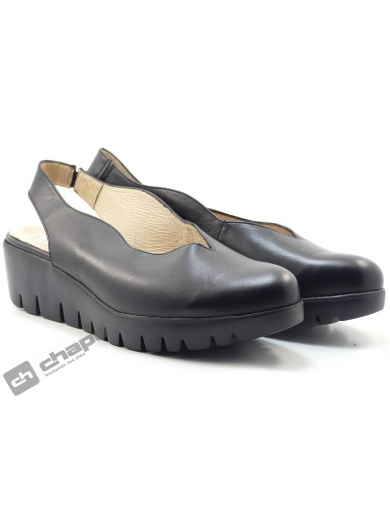 Mules Negro Zapatos Wonders C-33161