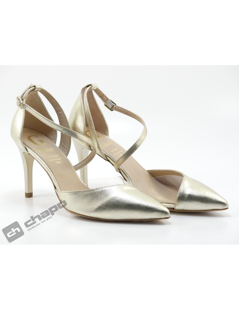 Zapatos Champagne Giko 95032