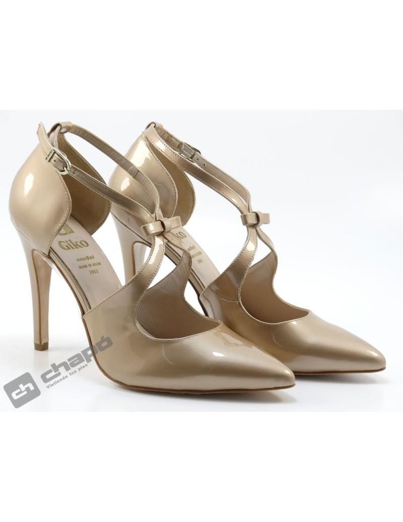 Zapatos Taupe Giko 96265-charol