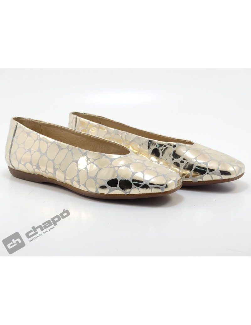 Mocasin Platino Zapatos Wonders A-8601