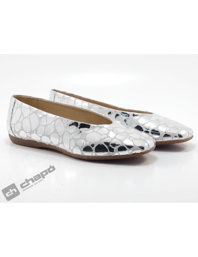 Mocasin Plata Zapatos Wonders A-8601