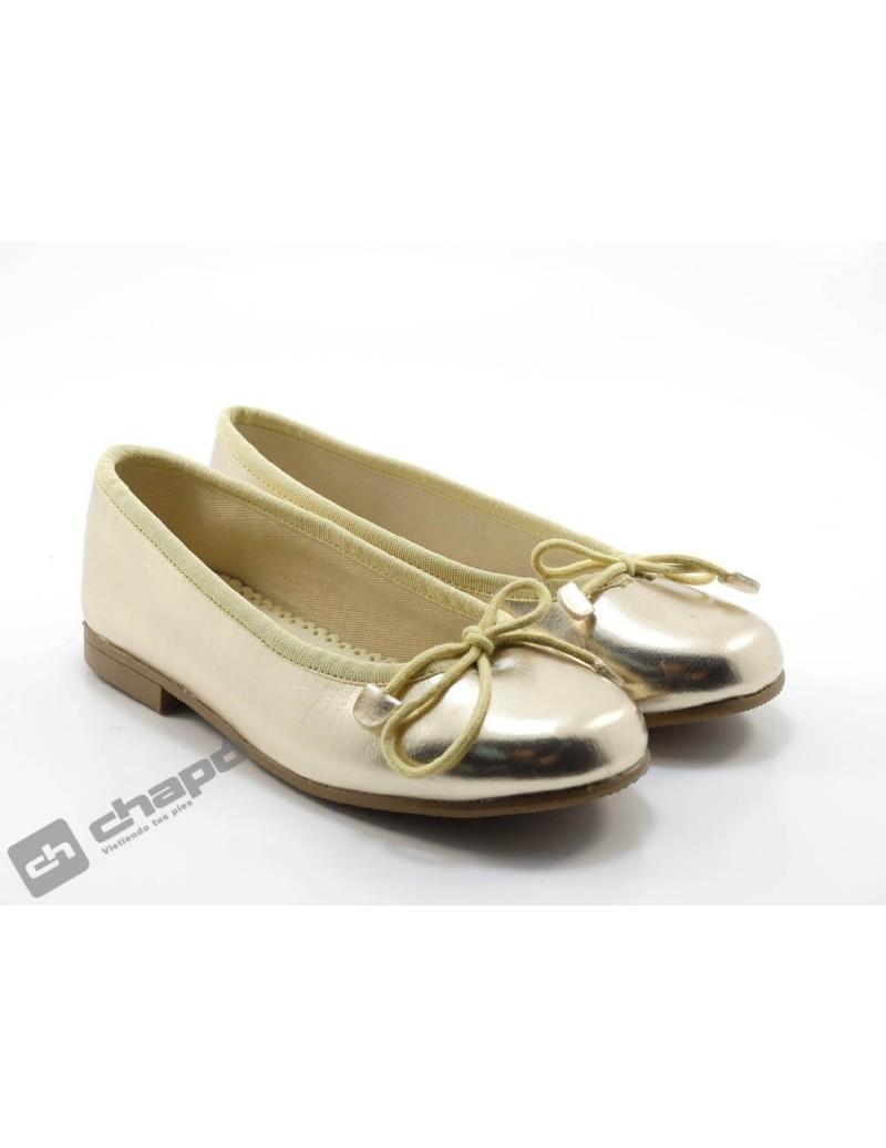 Zapatos Oro D´bebe 4559