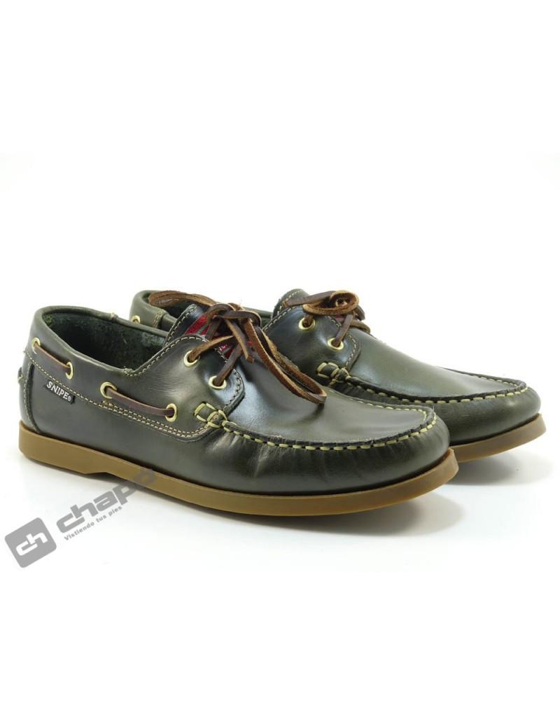 Zapatos Verde Snipe 22310