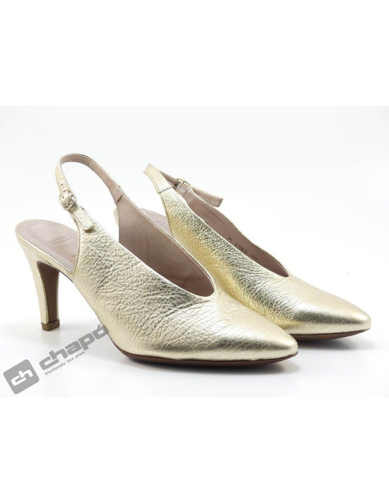 Mules Platino Zapatos Wonders M-2060