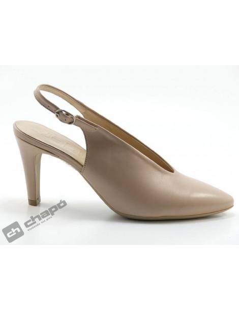 Zapatos Rosa Palo Wonders M-2060-piel