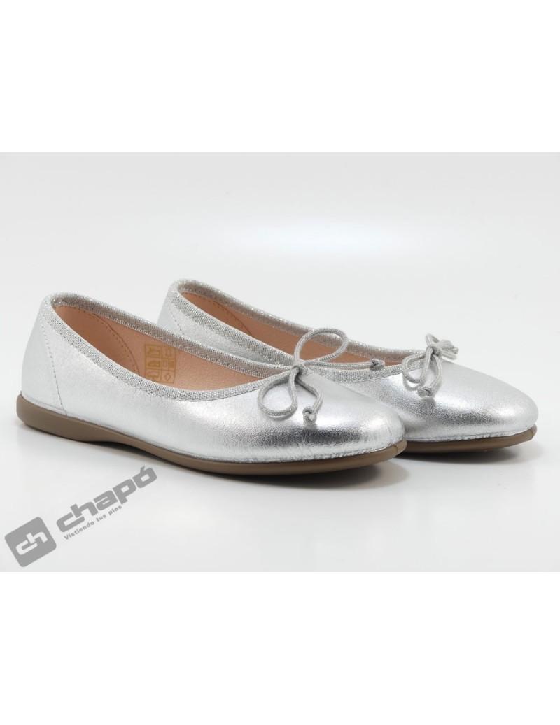 Zapatos Plata D´bebe 14025