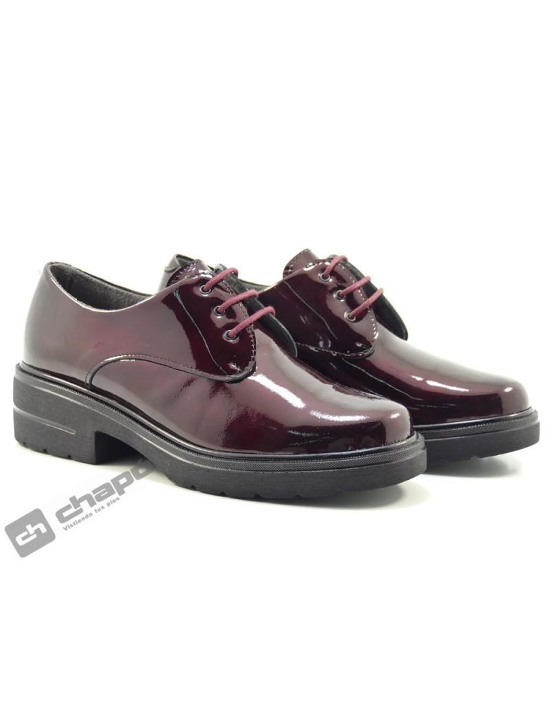 Zapatos Burdeo Pitillos 6440