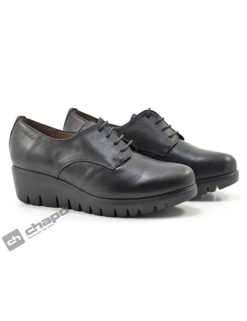 Zapatos Negro Zapatos Wonders C-33136-velvet