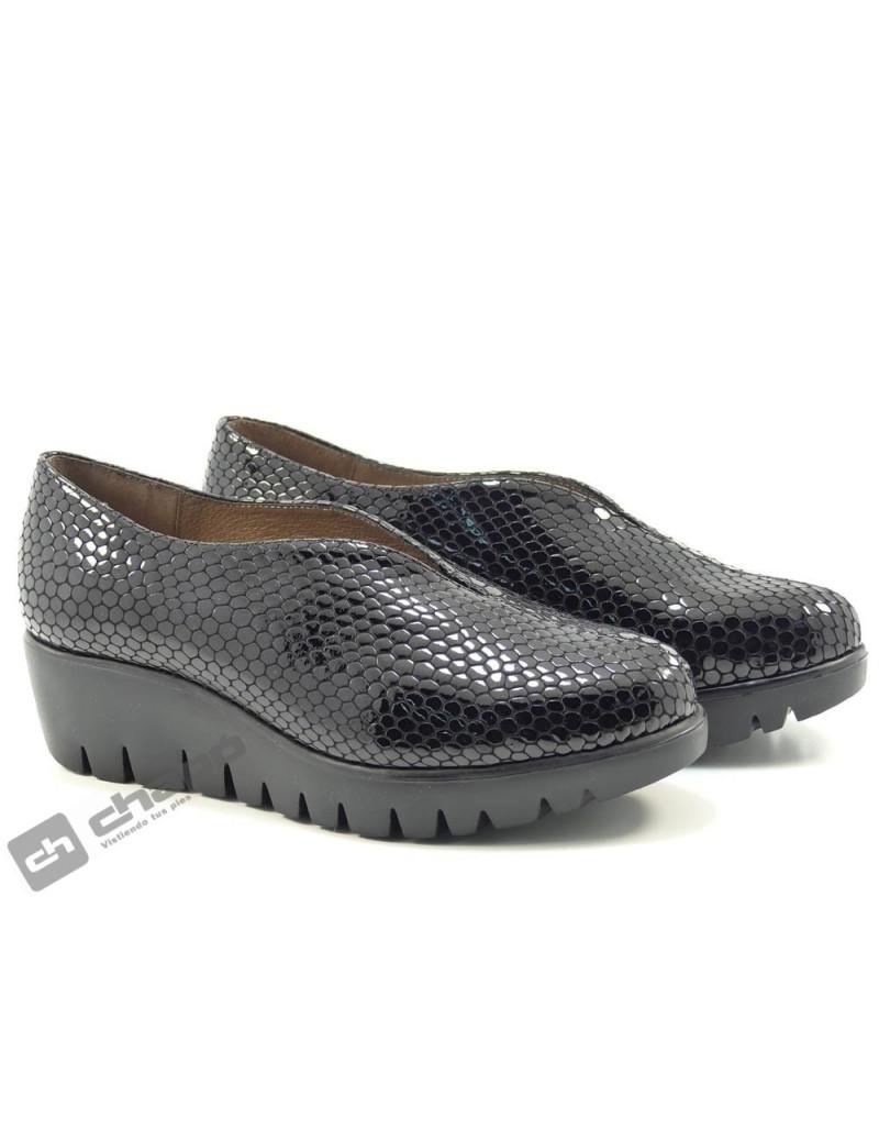 Zapatos De Salon Negro Wonders C-33228-bamba