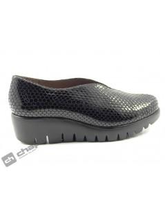 Zapatos Negro Wonders C-33228-bamba