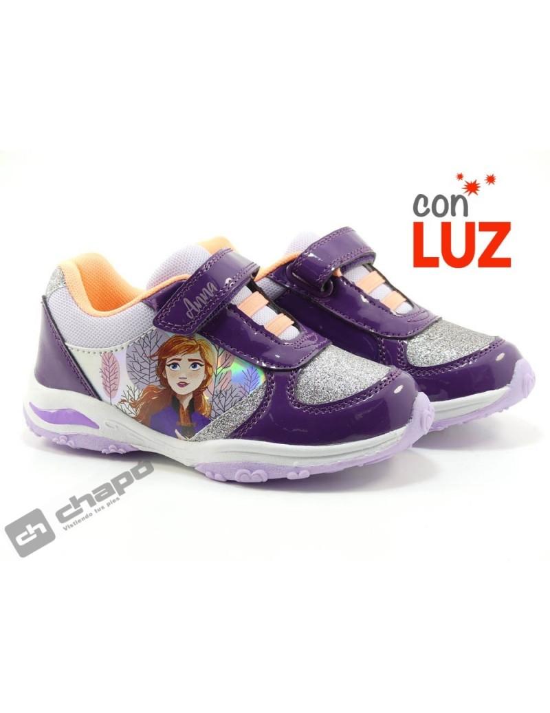 Zapatillas NiÑa Lila Cortina Fr001395